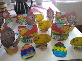 Великденска украса в групите - ДГ Първи Юни - Макариополско,Търговище
